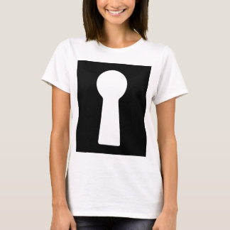 Keyhole, old style skeleton key hole T-Shirt