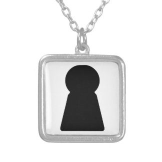 Keyhole Silver Plated Necklace
