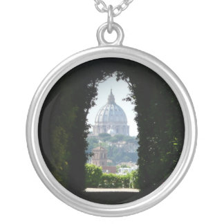 Keyhole view of St Peter s Basilica Custom Jewelry
