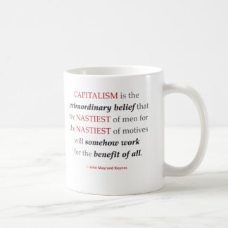 Keynes Capitalism Quote Mug