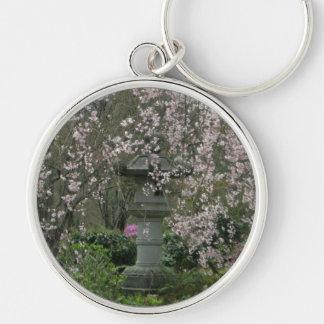 Keyring-Bllossom Lantern Silver-Colored Round Key Ring