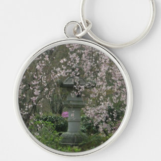 Keyring-Bllossom Lantern Silver-Colored Round Key Ring