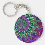 Keyring - Bokeh Fractal Purple Turquoise