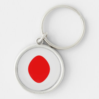 Keyring Japan flag Silver-Colored Round Key Ring
