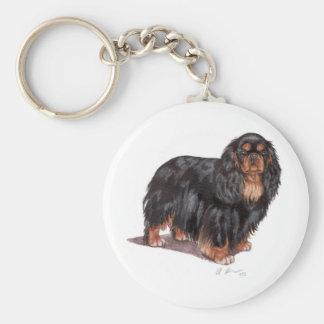 Keyring: King charles spaniel ( english toy ) Basic Round Button Key Ring