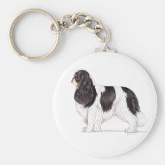 Keyring: King charles spaniel ( english toy) Basic Round Button Key Ring
