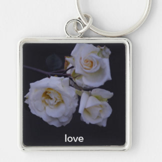 keyring love Silver-Colored square key ring
