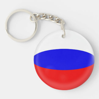 Keyring Russia Russian flag Single-Sided Round Acrylic Key Ring