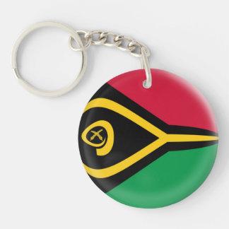 Keyring Vanuatu flag Single-Sided Round Acrylic Key Ring