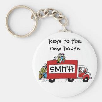 keys to new house, garage, storage key ring