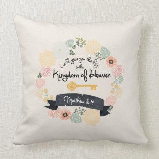 Keys to the Kingdom of Heaven pillow