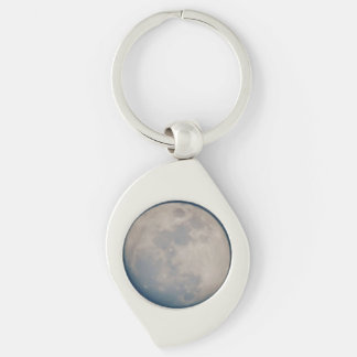 Keys to the Moon Silver-Colored Swirl Key Ring
