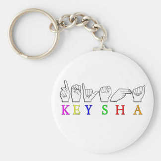 KEYSHA FINGERSPELLED ASL NAME SIGN KEY CHAIN