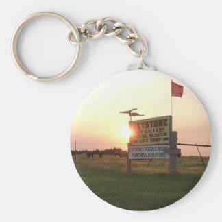 Keystone Art Gallery Basic Round Button Key Ring