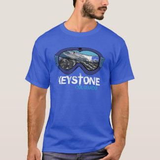 Keystone Colorado blue snow goggle guys tee