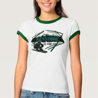 Keystone Colorado green ski elevation tee