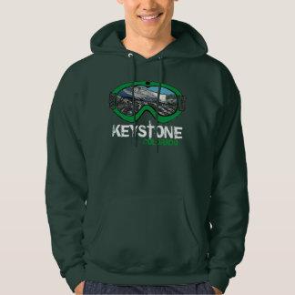 Keystone Colorado guys green snow goggle hoodie