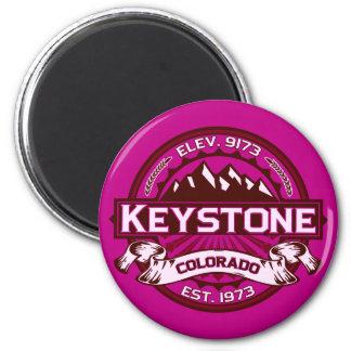Keystone Logo Raspberry Magnet