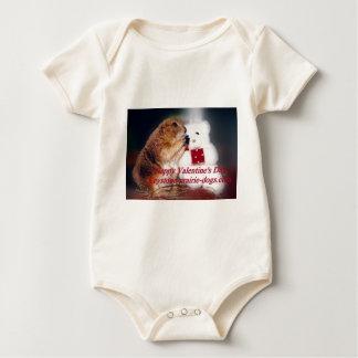 Keystone Prairie Dogs Valentine's Day Baby Bodysuit