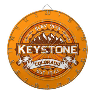 Keystone Tangerine Dart Board
