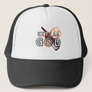 Keytar God Trucker Hat