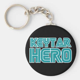 Keytar Hero Gamer wackiest best seller Basic Round Button Key Ring