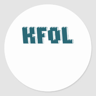 KFOL Kid Fan of ...... by Customize My Minifig Round Stickers