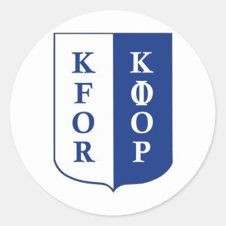KFOR Kosovo Classic Round Sticker