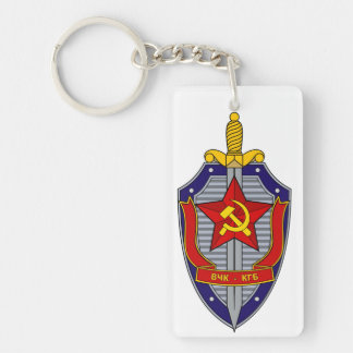 KGB Double-Sided RECTANGULAR ACRYLIC KEY RING