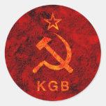 KGB ROUND STICKERS