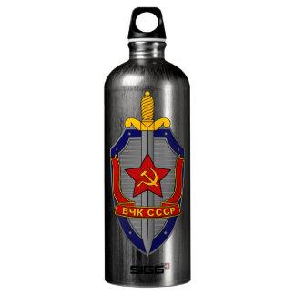 KGB Shield on Red Water Bottle