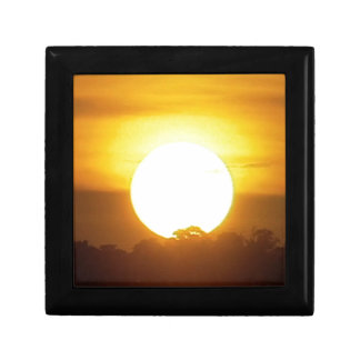 kground  add NAME  QUOTE PHOTO  sunset,background, Small Square Gift Box