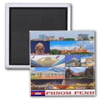 KH - Cambodia - Phnom Penh - I Love - Collage Magnet