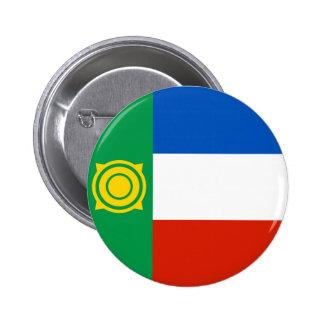 khakasiya flag russia country republic region 6 cm round badge