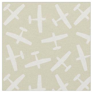 Khaki Aircraft Pattern Fabric