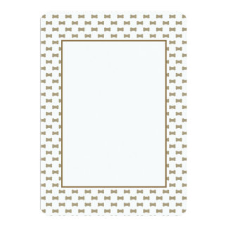 khaki Beige Dog Bones On Bright White Background 13 Cm X 18 Cm Invitation Card