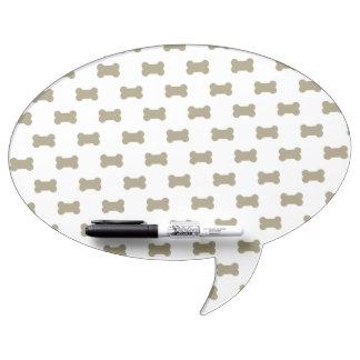 khaki Beige Dog Bones On Bright White Background Dry Erase Board