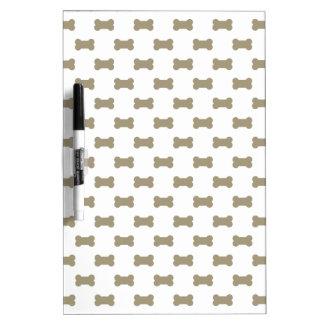 khaki Beige Dog Bones On Bright White Background Dry Erase Whiteboards