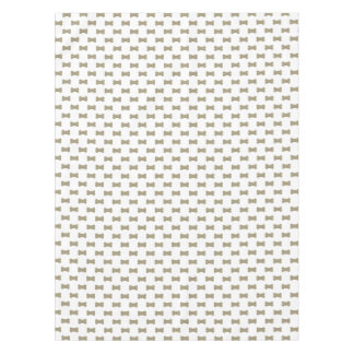 khaki Beige Dog Bones On Bright White Background Tablecloth
