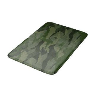Khaki camouflage bath mat