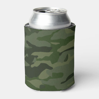 Khaki camouflage can cooler