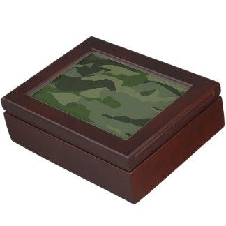 Khaki camouflage keepsake box