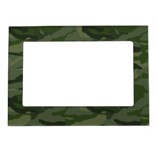 Khaki camouflage magnetic picture frames