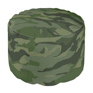 Khaki camouflage pouf