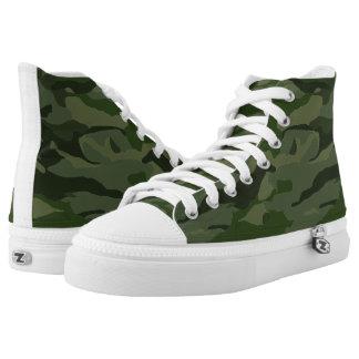Khaki camouflage printed shoes