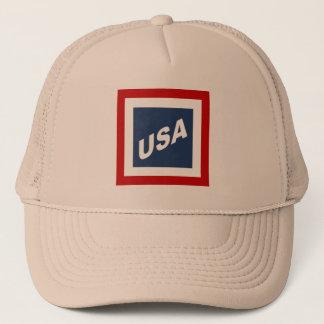 KHAKI   CAP   TRUCKER   DESIGN   THE USA