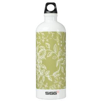 Khaki floral blossom pattern SIGG traveller 1.0L water bottle