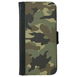 Khaki Green Camo Camouflage iPhone 6 6S Wallet