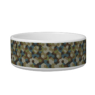 Khaki hexagon camouflage bowl