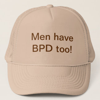 "Khaki ""Men have BPD too!"" Trucker Hat"